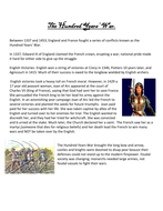Middle Ages: The  Hundred Years' War- reading and guiding questions