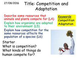 B2 3 1 Competition and adaptation