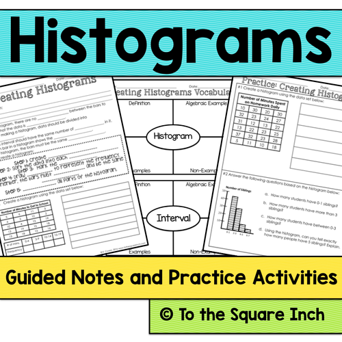 Statistics 6th Grade Math Guided Notes And Activities