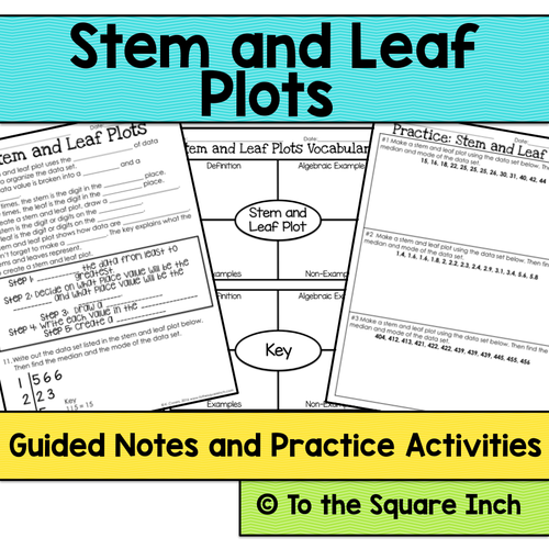stem and leaf plot notes by katembee teaching resources tes. Black Bedroom Furniture Sets. Home Design Ideas
