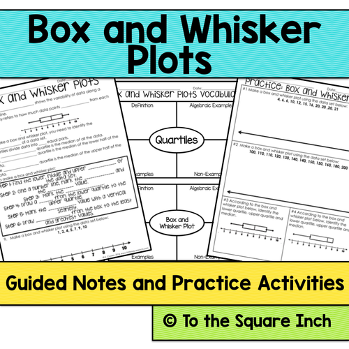 box and whisker plot notes by katembee teaching resources tes. Black Bedroom Furniture Sets. Home Design Ideas
