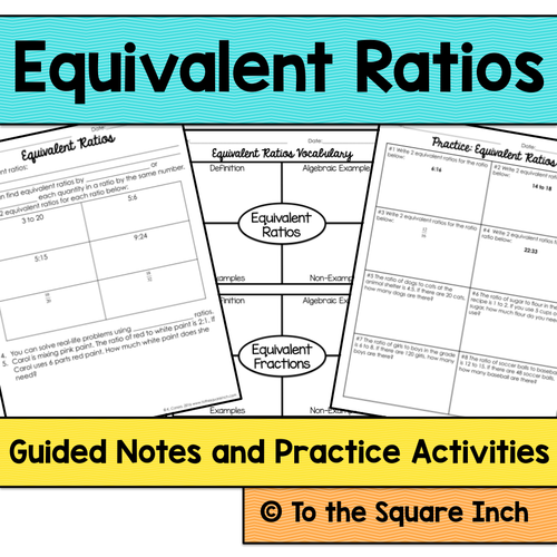 ratios 6th grade math guided notes and activities by katembee teaching resources tes. Black Bedroom Furniture Sets. Home Design Ideas