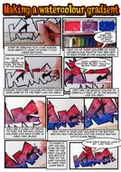 How to create a watercolour graffiti tag comic strip worksheet.