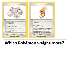Pokemon Maths Metric Imperial Weight Classroom Display by chuiyl