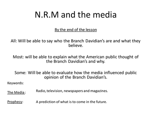 New Religious Movements and the Media