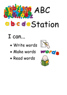 Focused activity posters - fine motor, reading, maths and writing.