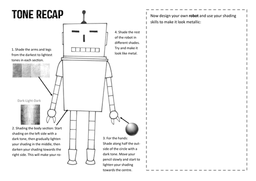 Robot Tone Worksheet By Sallyjanepearce22 Teaching