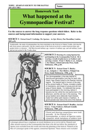 What happened at the Gymnopaediae Festival?