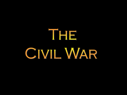 Advanced Placement- US History Teacher Notes/ PowerPoint Presentation for  the Civil War