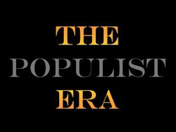 Advanced Placement- US History Teacher Notes/ PowerPoint Presentation for  Populism/ Populist Era