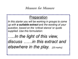 measure for measure revision   question formulation essay tips and  measure for measure revision   question formulation essay tips and quotes