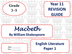 Macbeth mini revision guides for new spec
