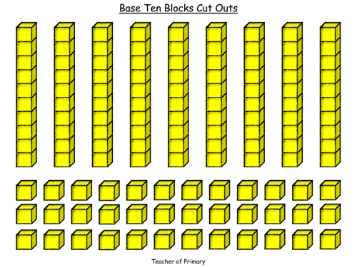 Mesmerizing image in printable base ten blocks