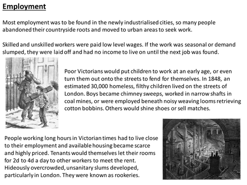 Victorian England enabling resources