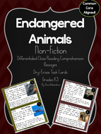 Endangered Animals Reading Comprehension Passages