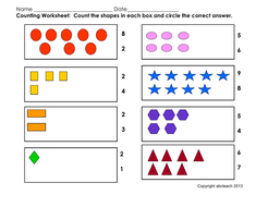 Worksheet: Counting Shapes (pre-k/primary) by abcteach | Teaching ...