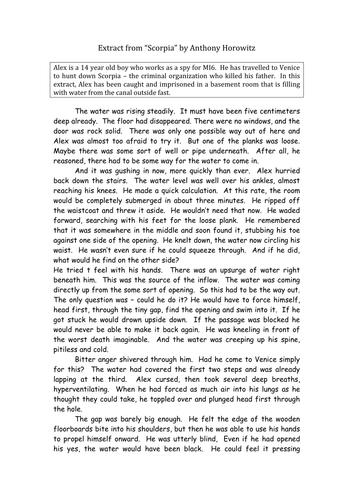 english gcse creative writing essay