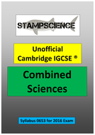 2016 0653 Cambridge IGCSE Combined Sciences Revision Guide