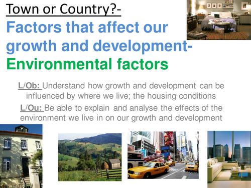 EdExcel GCSE Health & Social Care- Unit 1- Human Growth & Development- Environmental factors