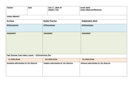 blank singapore maths daily lesson planner by ian markforsyth