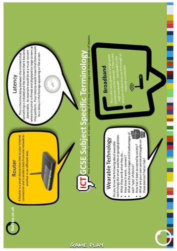 Fillable pdf worksheet - Game Play GCSE ICT