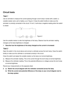 Circuit Symbols and Diagrams by AvitalS1 - Teaching Resources - Tes