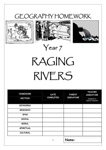 "Homework booklet: ""RAGING RIVERS"""
