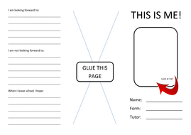 'This is me!' KS2/3 Pupil Leaflet Template by clairerobson