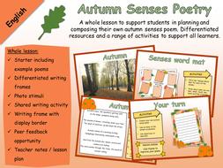 English - Poetry - Autumn Senses Poem