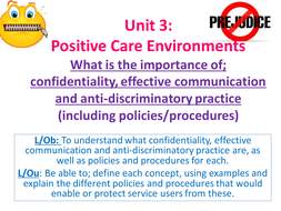 an example of prejudice in health and social care