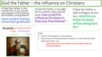 AQA new RE specification - Christianity beliefs - How belief in the Trinity influences Christians
