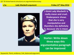 macbeth argumentative essay