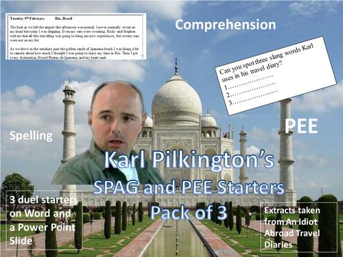 Karl Pilkington's SPAG and PEE Starters - Funny