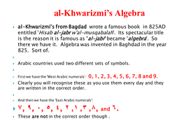 Algebra - use of symbols