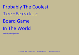 Probably the coolest ice breaker board game in the world dyslexia friendly  set