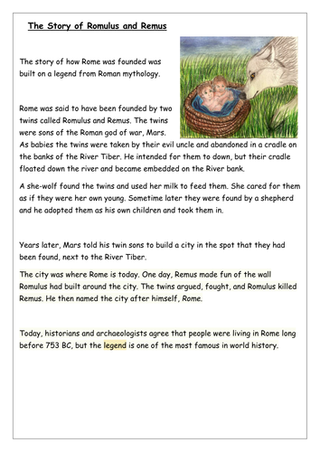 The story of how the Roman Empire began by LBonnesen - Teaching ...
