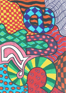 Art work based on the Brazilian artist Romero Britto