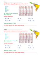 KS3 Spanish homework activity: Spanish-speaking countries