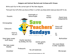 Bacteria and viruses ks2 lesson plan information text and worksheet lesson 3 bacteria and viruses venn diagram ccuart Image collections