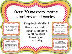 30 mastery maths starters / plenaries ks2