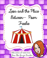 Leon and the Place Between Poetry Freebie