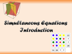 Simultaneous Equations Introduction