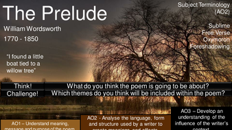 The Prelude William Wordsworth Aqa Poetry Power And Conflict