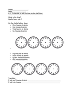 French telling the time worksheet half an hour by charlieparry french telling the time worksheet half an hour ibookread PDF