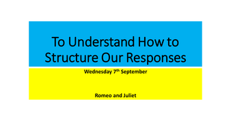 Aqa Romeo And Juliet Essay Lesson By Wesjc  Teaching Resources  Tes Aqa Romeo And Juliet Essay Lesson
