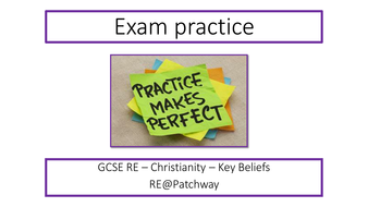 New AQA RE GCSE specification - exam practice on the 4 & 5 mark questions