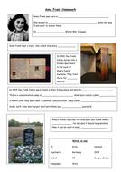 Anne Frank Homework sheet