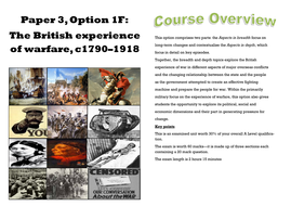 British Experience of Warfare 1793-1918 Intro booklet