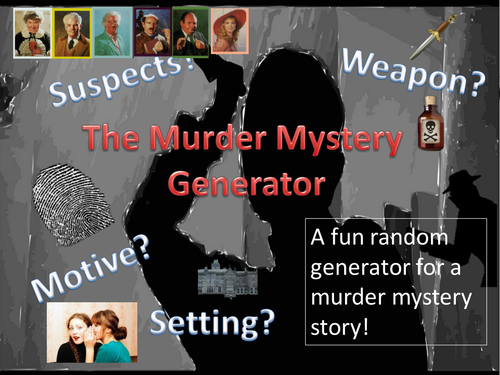 Murder Mystery Generator and Starter Pack