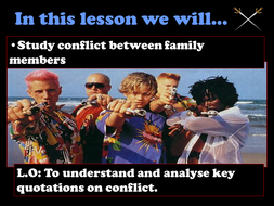 Romeo and Juliet conflict analysis powerpoint